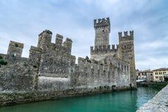 Sirmione castle on Lake Garda, Italy Royalty Free Stock Photos