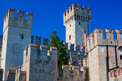 Sirmione castle Stock Photos