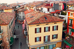 Sirmione city houses and streets Stock Photos