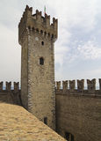 Sirmione Fortress, Lake Garda Stock Image