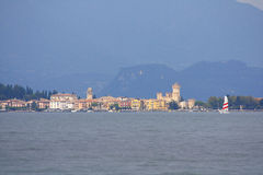 Sirmione Garda lake. Sirmione with Castle Garda lake Italy Royalty Free Stock Photo