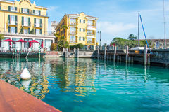 Sirmione - Garda Lake. View of Sirmione sul Garda from the Boat Stock Photography
