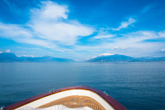 Sirmione - Garda Lake. View of Sirmione sul Garda from the Boat Royalty Free Stock Photography