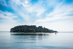 Sirmione - Garda Lake. View of Sirmione sul Garda from the Boat Royalty Free Stock Images