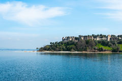 Sirmione - Garda Lake. View of Sirmione sul Garda from the Boat Royalty Free Stock Image