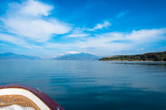 Sirmione - Garda Lake. View of Sirmione sul Garda from the Boat Stock Photos