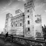 Scaliger Castle 13th century in Sirmione on Garda lake near Ve Royalty Free Stock Image