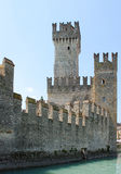 Sirmione (Italy) - castle. Castle of the scaligers, sirmione, Lake Garda, Italy - the castle is one of the most important water surrounded castles of europe Stock Images