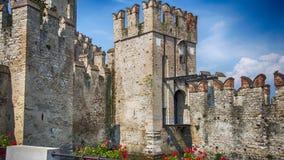 Sirmione Italy. Castle Lake Garda stock photos
