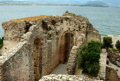 Sirmione, Italy: Grottoes of Catallus Roman Villa Ruins Royalty Free Stock Photos