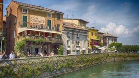 Sirmione Italy. Lake Garda coastal royalty free stock photos