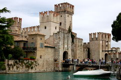Sirmione, Italy: Scaligers' Castle on Lake Garda Royalty Free Stock Images