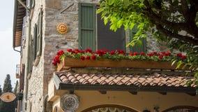 Sirmione Italy. Sunny Lake Garda royalty free stock images