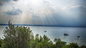Sirmione Italy. Sunny Lake Garda royalty free stock photo