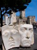 Sirmione jest comune w prowinci Brescia, w Lombardy północny Włochy obraz royalty free