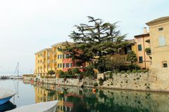 Sirmione at lake Garda (Italy) Stock Photos