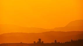 Sirmione in Lake Garda at sunset royalty free stock photos
