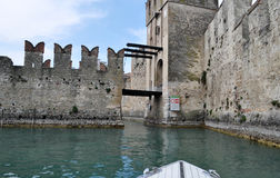 Sirmione, Lombardy, Italy. Sirmione is a comune in the province of Brescia, in Lombardy (northern Italy). It has a historical centre which is located on the Royalty Free Stock Images