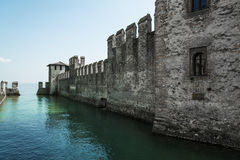Sirmione, old castle on the Garda lake Royalty Free Stock Image