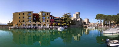 Sirmione panoramic view. Royalty Free Stock Photos