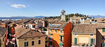 Sirmione panoramic view. Lake Garda, Italy. Royalty Free Stock Photography