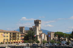 Sirmione's castle. Castle view from the Boat for desenzano Royalty Free Stock Image