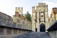 sirmione scaliger замока s Стоковое Фото