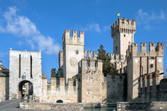 Sirmione Scaliger Castle Royalty Free Stock Photography