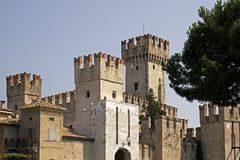 Sirmione, Scaliger castle, Lake Garda, Europe Stock Photos
