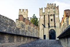 Sirmione Scaliger's Castle Stock Photo