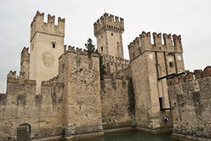 Sirmione Schloss Stockfotos