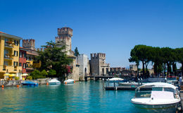 Sirmione on the shore of Lake Garda Stock Image