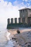 Sirmione sulla polizia del lago in Italia del Nord Fotografie Stock