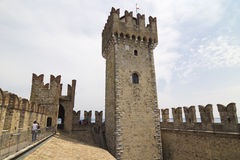 Sirmione tower, Italy Stock Image