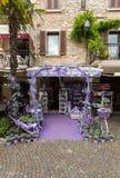 Sirmione, Włochy Okno sklep mydlarnia i duchy od lawendy Zdjęcie Royalty Free