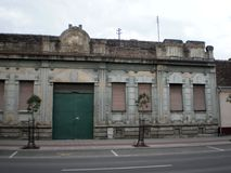 Sirmium斯雷姆斯卡米特罗维察,老房子 免版税库存照片