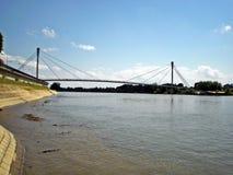 Sirmium Sremska Mitrovica, пешеходный мост Стоковые Фотографии RF