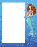 Sirène affichant la carte Photos stock