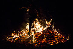 Sirni Zagovezni fire jumping Royalty Free Stock Image