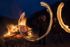 Sirni Zagovezni fire rings Stock Images