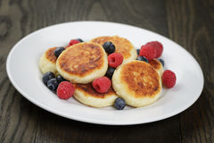 Sirniki Traditional Russian Pancakes From Cottage Royalty Free Stock Photo