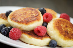 Sirniki Traditional Russian Pancakes From Cottage Stock Photo