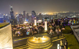 Sirocco Skybar in Bangkok at night Royalty Free Stock Photography