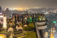 Sirocco Skybar in Bangkok at night Royalty Free Stock Image