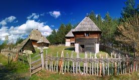 Sirogojno. Historical WilageEthno village Sirogojno in Zlatibor surroundings, Serbia.picture taken april 2012 royalty free stock photography
