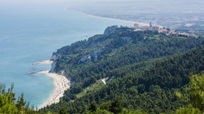 Sirolo with Adriatic sea. Beaches of Sirolo in Mount Conero natual park, Italy Stock Photo