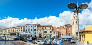 Sirolo miasteczko, Marche, Włochy zdjęcia stock