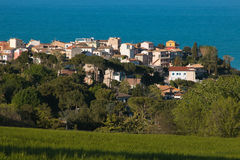 Sirolo miasto na Adriatic morzu Fotografia Stock