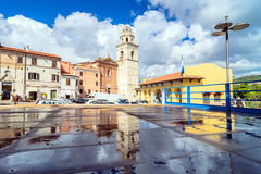 Sirolo town, Marche, Italy Stock Image