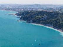Sirolo, vista aérea Imagem de Stock Royalty Free
